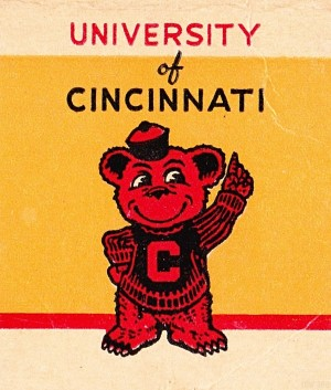 Vintage University of Cincinnati Art Reproduction by Row One Brand