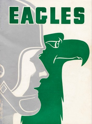 Vintage Philadelphia Eagles Art by Row One Brand