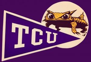 Vintage TCU Texas Christian Horned Frog Logo Art by Row One Brand