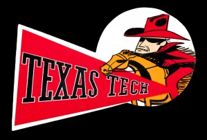 Vintage Texas Tech College Art Canvas Row One Sports Artwork by Row One Brand