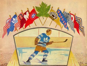 Vintage Hockey Art 1932 by Row One Brand