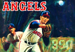 angels baseball wall art by Row One Brand