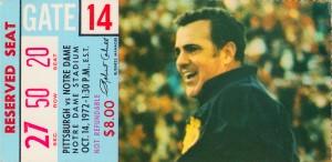 1972 Pitt vs. Notre Dame by Row One Brand