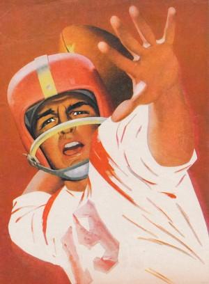 artist lon keller quarterback football program cover art by Row One Brand