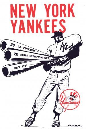 Artist Willard Mullin New York Yankees Art Poster by Row One Brand