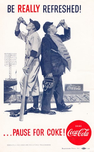 be really refreshed pause for coke ad reproduction poster by Row One Brand