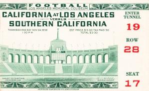 1938 USC vs. UCLA by Row One Brand