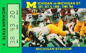 1988 Michigan State vs. Michigan by Row One Brand