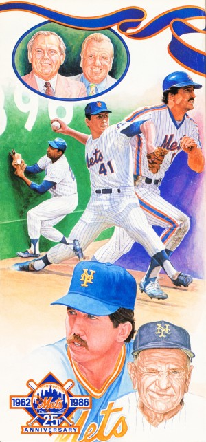 1986 New York Mets Art by Row One Brand