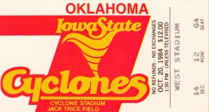 1984 Iowa State Cyclones vs. Oklahoma Sooners by Row One Brand