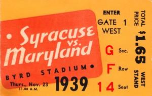 1939 Syracuse vs. Maryland by Row One Brand