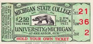 1927 Michigan State vs. Michigan by Row One Brand