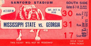 1950 Mississippi State vs. Georgia by Row One Brand