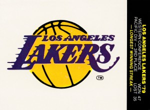 1980 Lakers Fleer Decal Poster by Row One Brand