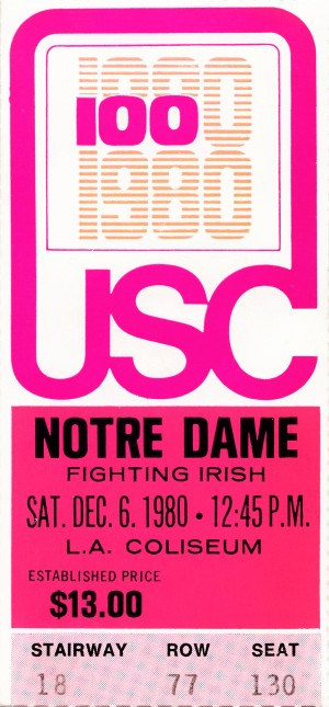 1980 USC vs. Notre Dame by Row One Brand