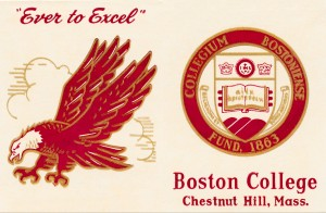 boston college bc eagles vintage art by Row One Brand