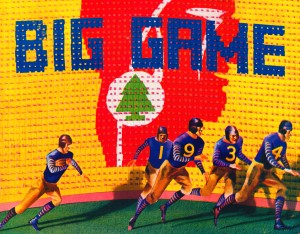 cal stanford big game football art metal sign college prints wood acrylic poster canvas row 1 by Row One Brand