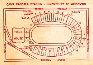 camp randall stadium map vintage college football stadium map art by Row One Brand