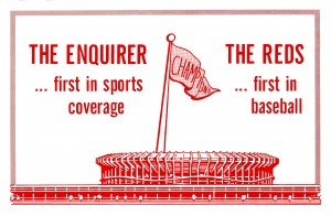 cincinnati enquirer reds ad by Row One Brand