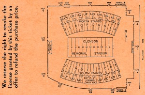 Clemson Memorial Stadium Map by Row One Brand