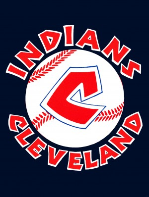 cleveland indians metal sign by Row One Brand