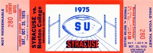 1975 Syracuse vs. Boston College by Row One Brand