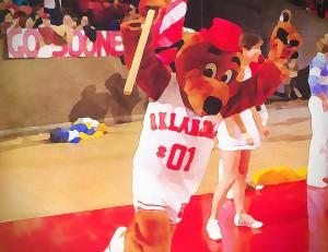 college mascot art top daug oklahoma sooners basketball art by Row One Brand