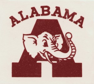 college mascots alabama elephant by Row One Brand