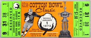 1973 Cotton Bowl Texas Longhorns by Row One Brand