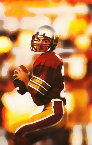 doug flutie boston college football art by Row One Brand