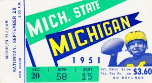 1951 Michigan State vs. Michigan by Row One Brand