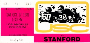 1981 USC vs. Stanford by Row One Brand