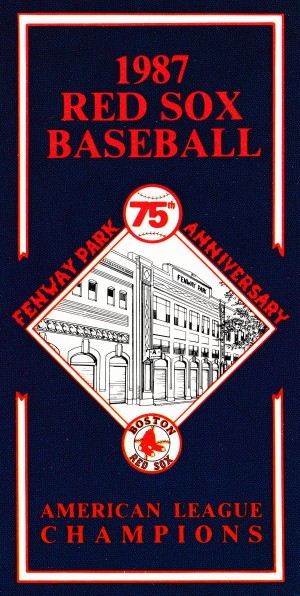 1987 Boston Red Sox Art by Row One Brand