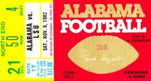1982 LSU vs. Alabama by Row One Brand