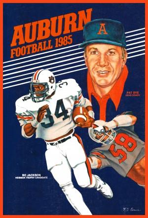 1985 auburn football poster by Row One Brand