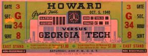 1940 Howard vs. Georgia Tech by Row One Brand