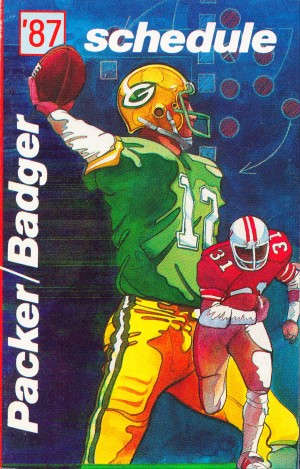 green bay packers wisconsin badgers poster row one retro by Row One Brand
