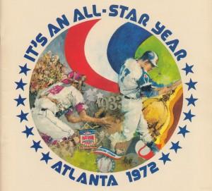 its an all star year atlanta 1972 baseball art by Row One Brand
