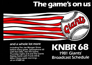 KNBR CBS Sports Radio Giants Poster 1981 by Row One Brand