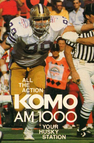 komo am 1000 seattle radio uw husky football poster by Row One Brand