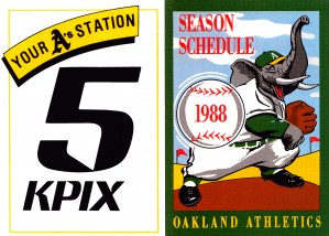 kpix tv channel 5 oakland television sports ad poster by Row One Brand