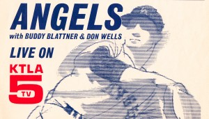 ktla tv channel 5 los angeles vintage television ad la angels retro baseball poster art metal sign by Row One Brand