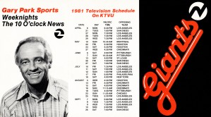 ktvu tv channel 2 oakland san francisco giants television schedule poster gary park sports by Row One Brand
