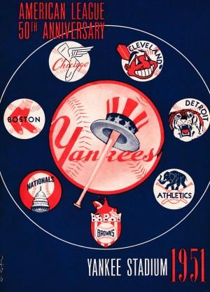 1951 new york yankees logo lon keller art by Row One Brand