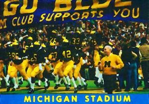 michigan football art university michigan wolverines ann arbor college football by Row One Brand