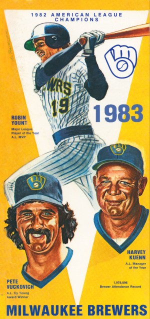 milwaukee brewers 1983 by Row One Brand