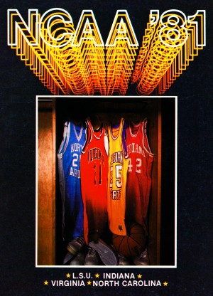 ncaa basketball art indiana north carolina jersey lsu virginia retro college sports poster by Row One Brand