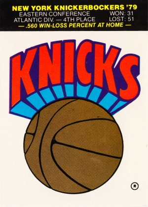 1980 New York Knicks Fleer Decal Art by Row One Brand