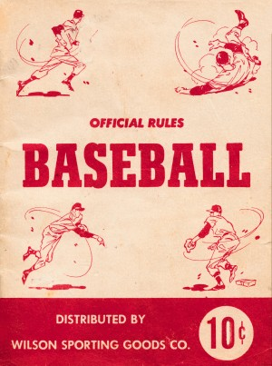 official rules wilson baseball cover art by Row One Brand
