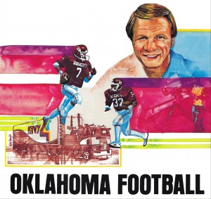 oklahoma football barry switzer art by Row One Brand